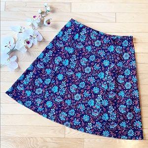 RENEE C Arlette skirt size Small blue red white